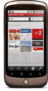 Opera Mini 5 for Android phones