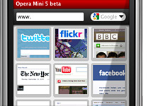Opera Mini 5 - Favoritos