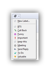 Opera Mail label menu