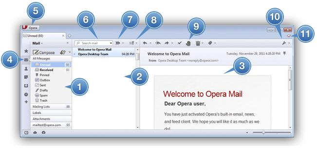 Opera Mail layout